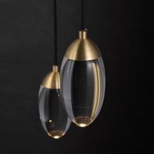 Bola de cristal moderna led luzes pingente nordic cobre iluminação quarto cabeceira única cabeça luzes do corredor barra pequena lâmpada pendurada