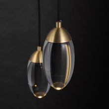 Modern Crystal ball LED Pendant lights Nordic Copper lighting bedroom bedside single head lights bar corridor small Hanging lamp