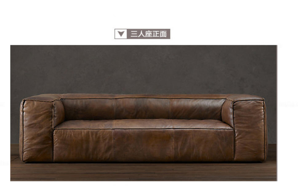 living room Sofa set muebles de sala chesterfield oil wax real