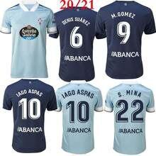 T-shirt de course, uniforme Celta de Vigo, IAGO, ASPAS, SANTI, MINA, BOUFAL, futbol, 20 et 21