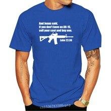 Jesus Said Ar - 15 Shirt - Luke 22 : 36 Bible Verse Summer Short Sleeves Cotton Fashiont Shirt