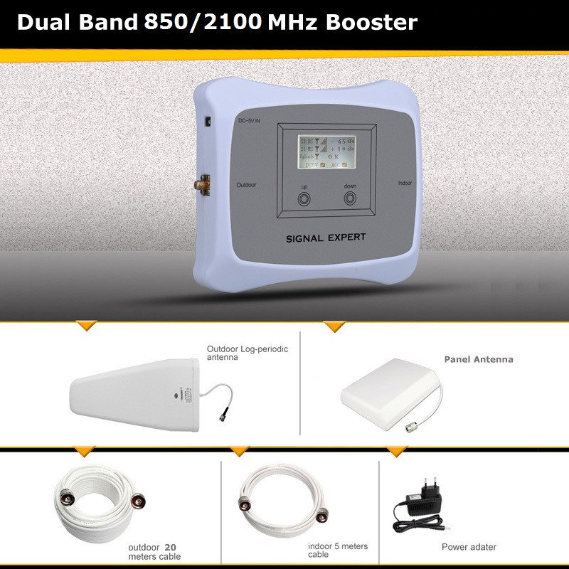 850mhz/2100mhz 2g 3g Signal Booster/high Booster- Signal Receiver