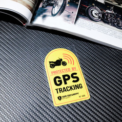 CDCOTN Warning Lable GPS TRACKING Alarm System Car Sticker Anti-Theft Reflective Vinyl Stickers For Car,motocrclye ,Bike Decal
