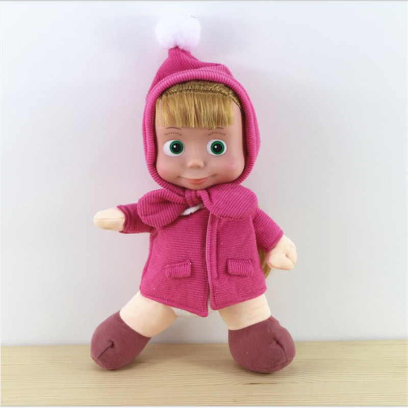 Hot Sale 23 Cm Russia Masha Stuffed Toys High Quality Plush Toy Gift Doll For Kids