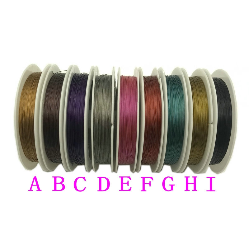 1 Roll Dental Stainless Steel Wire Dental Colorful Wire 0.3mm Diameter 40 Meters