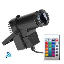 Drahtlose Fernbedienung 10W DJ LED Pinspot Licht RGB LED Spot Licht Für Dance Party Disco Hochzeit Show Home spiegel Ball Beleuchtung