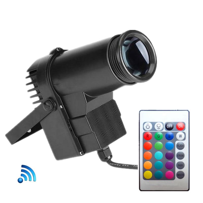 Wireless Remote Control 10W DJ LED Pinspot Light RGB LED Spot Light For Dance Party Disco Wedding Show Home Mirror Ball Lighting