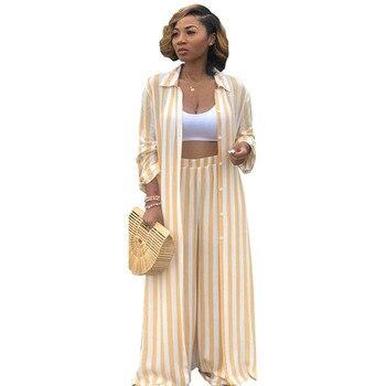 Conjuntos de dos piezas para mujer, traje de pantalón de ocio, Top de Camisa larga y conjunto de pantalones de pierna ancha, conjunto de otoño a juego, chándal para mujer