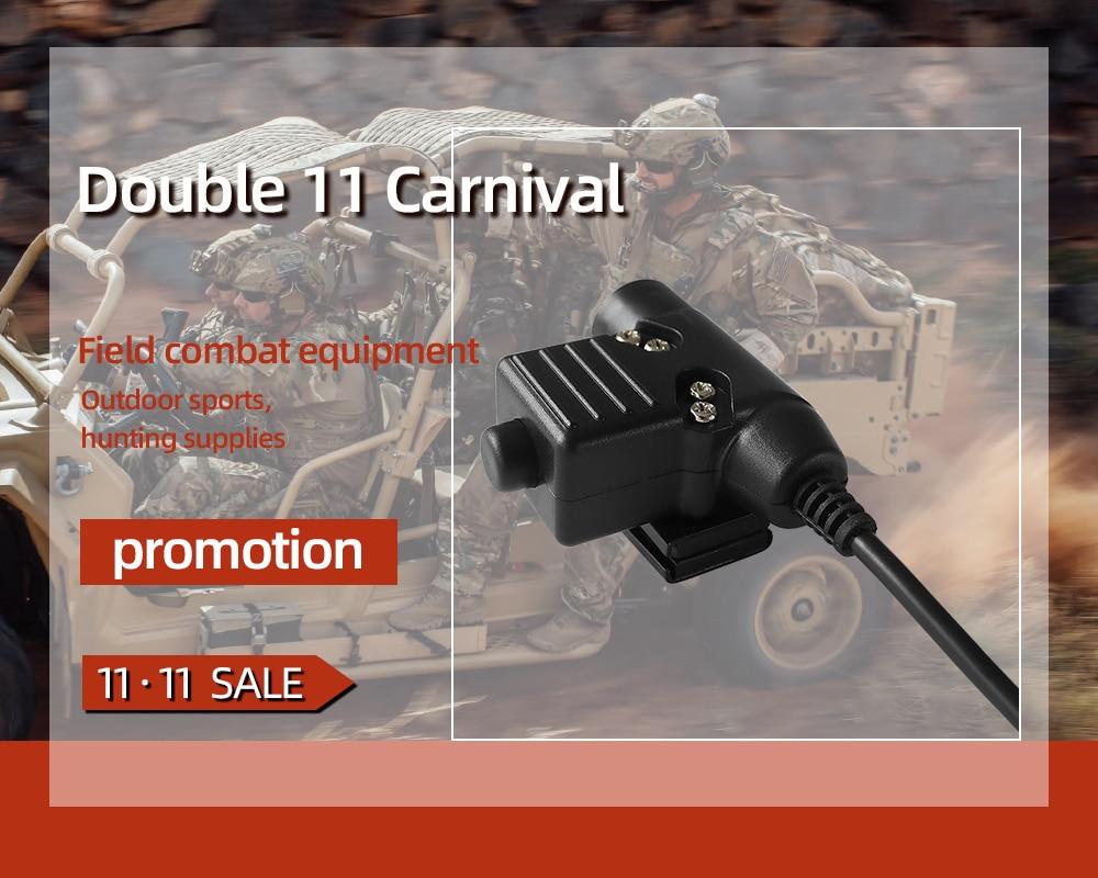 TAC-SKY U94 PTT tactical headset walkie-talkie military radio adapter u94