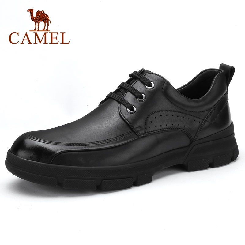 CAMEL Genuine Leather Men's Shoes Autumn New Daily Casual Non-slip Cowhide Men Loafers Business Office Shoes Men