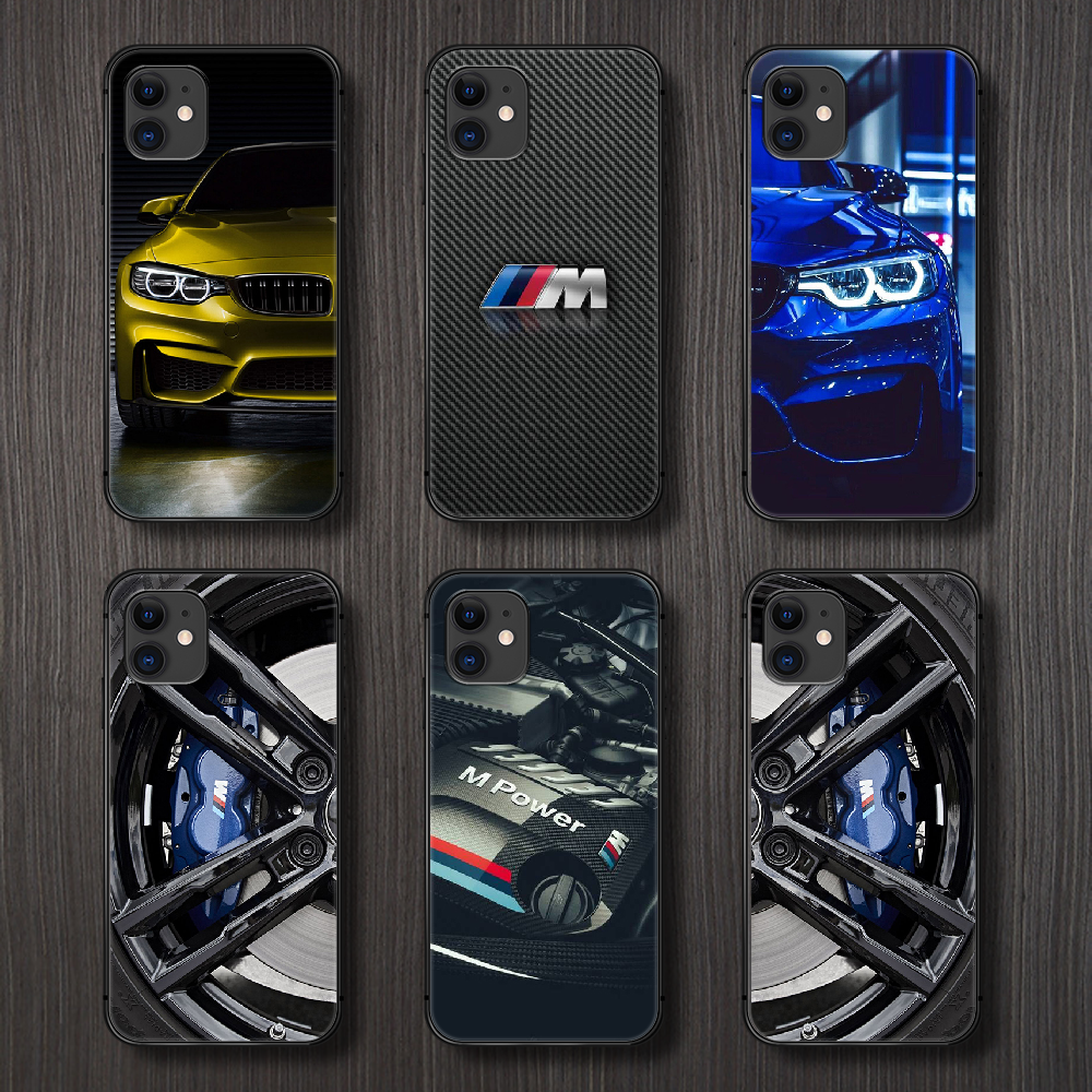 Blue Red Car for Bmw Phone Case Cover Hull For iphone 5 5s se 2 6 6s 7 8 plus X XS XR 11 PRO MAX black prime tpu bumper silicone image