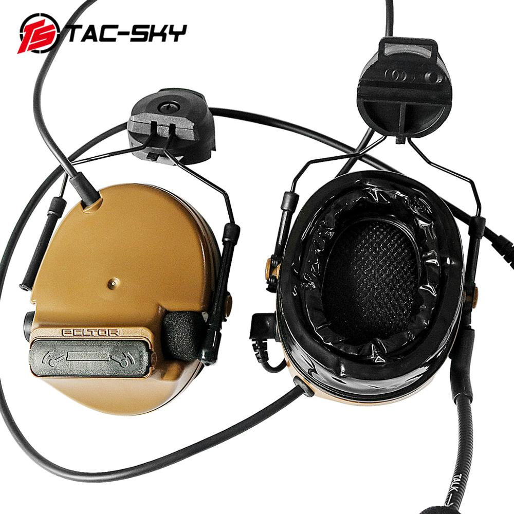 Image 2 - TAC SKY COMTAC III helmet bracket silicone earmuff version outdoor sports noise reduction pickup military tactical headset CB-in Ear Protector from Security & Protection
