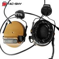 ווקי טוקי TAC-SKYCOMTAC סיליקון סוגר קסדה III רעש גרסה earmuff CB אוזניות טקטי איסוף הפחתה + טוקי ווקי טוקי U94PTT (3)