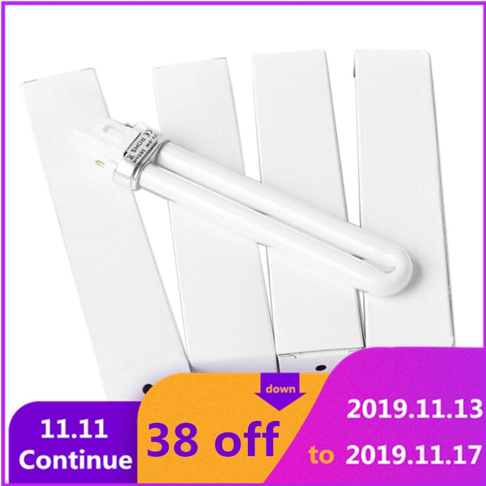 4pcs/set 9W UV Lamp Light Tube For Nail Art Dryer Curing Lamp Replacement U-shaped Lamp Bulb Tube Nail Art Supplies Hot Sale