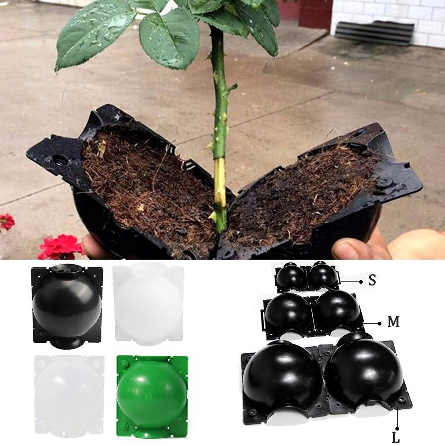 5 PIÈCES De Racine De Plante Box de Culture Haute Pression Jardinage Plante Motte de Reproduction pour Jardin Greffage L'enracinement Plant Box