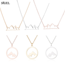 Ожерелье SMJEL с подвеской в виде горы для мужчин и женщин, Круглый чокер в стиле панк, уличное украшение для путешествий, скалолазания, минима...