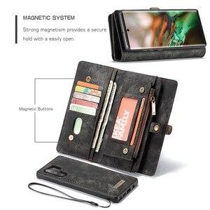 Image 3 - Voor Galaxy Note 10 Case Premium Koeienhuid Lederen Rits Afneembare Magnetische Wallet Cover Case voor Samsung Galaxy Note 10 Plus a50