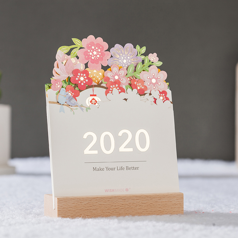 Desk Calendar 2020 Creative Simple European Style Send Customer Business Gift Desktop Office Decoration Kawaii Supplies