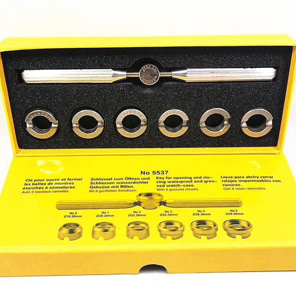 Ferramenta de Reparo Case para Rolex Conveniente Durável Relógio Abridor Gadgets Removedor Kit Volta 7 Pçs