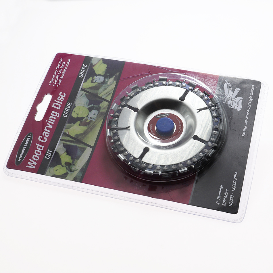 4-inch Chain grinding disc plate Wheel Wood Carving Angle Grinder Chain Disc <font><b>for</b></font> Angle Grinder <font><b>Woodworking</b></font> Carving image