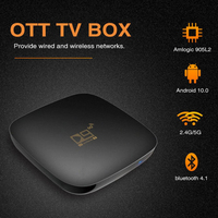 2021 Dual Wifi Bluetooth Smart TV Box Android 10,0 4k Android TV BOX Home Audio 2,4G 5GHz WIFI Set Top Box Unterstützung IP TV