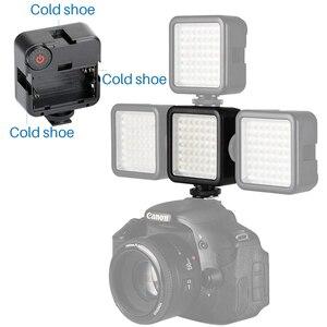 Image 2 - Ультраяркая Светодиодная панель для видеосъемки с холодным башмаком для Gopro Hero 8 7 6 5 Nikon Sony DSLR DJI Osmo набор аксессуаров для экшн камеры