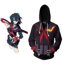 KILL la KILL Hoodie Anime Sweatshirts Matoi Ryuuko Cosplay Costume Anime 3D Men Women Coat