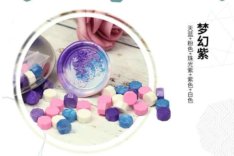 100 Buah/Banyak Octagon Lilin Manik-manik Stamping Lilin Cap Perangko untuk Amplop Dokumen Retro Undangan Pernikahan Dekoratif Supply