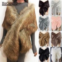 Hcyo женские пончо из искусственного меха накидки пальто свободного