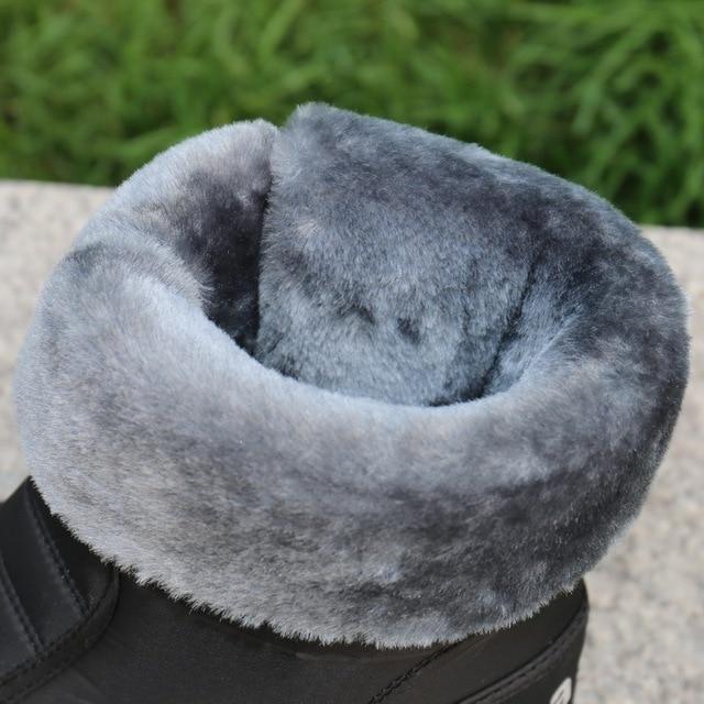 Men snow boots 2020 men winter shoes warm waterproof non-slip platform boots for men botas de hombres size 40 - 45 3