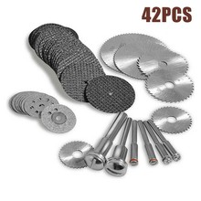 42pcs Diamond Cutting Wheels For Rotary Tool Die Drinder Metal Cut Off Disc Rotary Tools Accessories