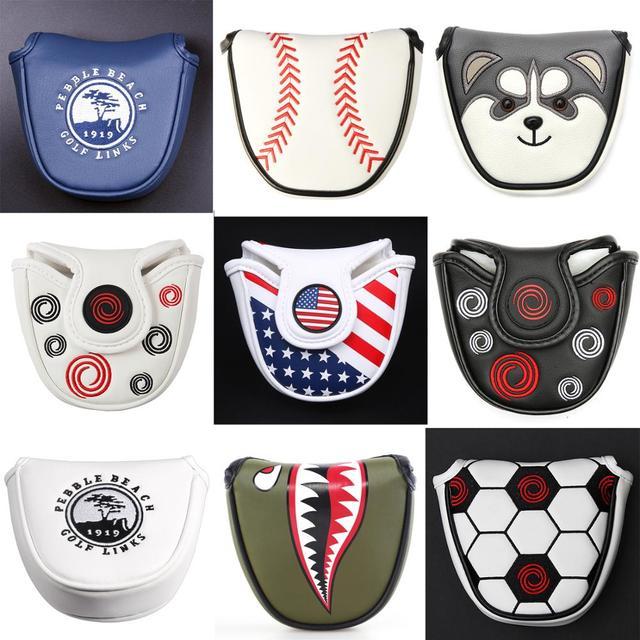 Магнитная Защелка на заказ, колотушка для гольфа, Паттер, покрытие для головы, синтетическая кожа, разные цвета, бесплатная доставка