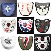 Magnetic Closure Customized Golf Mallet Putter Covers Headcover Synthetic Leather Multi Style Color Free Shipping