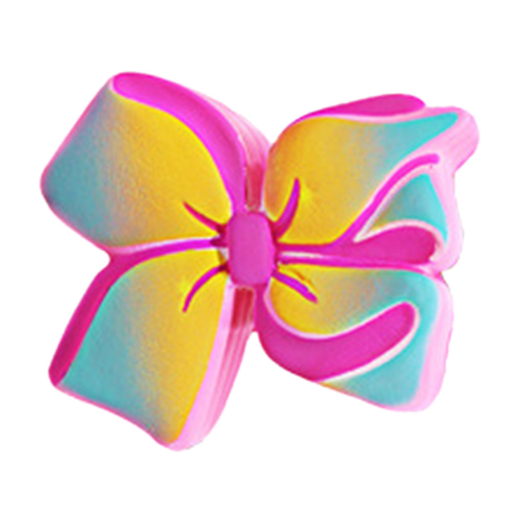Colorful Bow Stress Reliever Simulated Slow Rising Kids Squeezable Toys Girly Heart Pinch Fun Antistress Toy #B