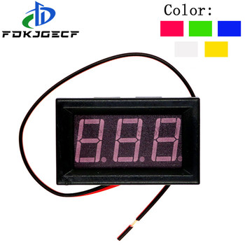 Digital Voltmeter DC 4.5V to 30V Voltage Panel Meter Red/Blue/Green/Orange/White For 6V 12V Electromobile Motorcycle Car 0.56'' image