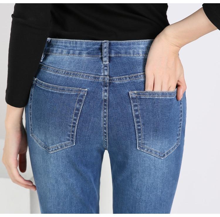 KSTUN FERZIGE Women's jeans brand stretch hight waist blue embroidered bootcut denim jeans flares slim fit women trousers large size 10