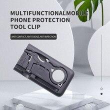 Criativo multifuncional ferramenta de proteção do telefone móvel contato livre porta abertura artefato titular do telefone móvel caneta de tela de toque