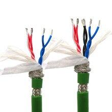 Cabo de dados chain do arrasto 4,6, 8,10, núcleo 12,14 de 0.2, 0.3mm 2424,22awg ultra alto flexível blindado trançado par fio de reboque verde 5m