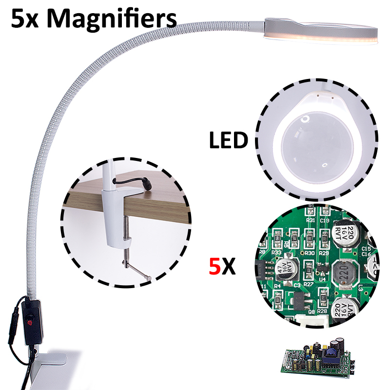 magnifying lamp led professional magnifying glass led magnification repair desk magnifier lamp illuminated table magnifier