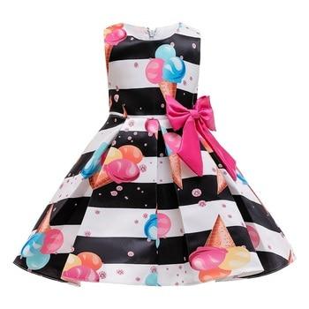 Vestido de princesa para niña, vestido de tutú a rayas con lazo, vestidos infantiles para niños, cumpleaños, actuación de fiesta, disfraces, vestidos infantiles para niñas 2 4 8 10 años