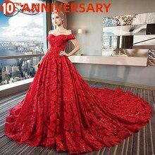 OllyMurs, boda, pluma roja, patrón de lujo, diseño exclusivo, hombro con una palabra de encaje, hecho a mano, gran vestido de boda para mujeres embarazadas