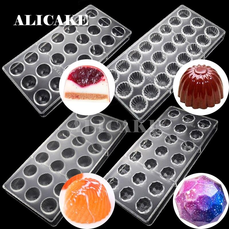 Küche Polycarbonat Schokolade MO … Design 3D Fußball Candy Schokolade Gussform