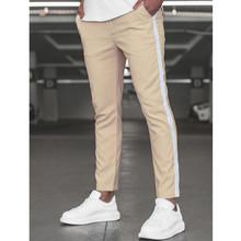 Spodnie dresowe męskie spodnie Skinny fit spodnie dresowe spodnie gimnastyczne Fitness męskie spodnie boczne paski moda męska spodnie joggery tanie tanio Wiosna i jesień Ołówek spodnie CN (pochodzenie) Poliester COTTON CASUAL Na co dzień Mieszkanie Kieszenie REGULAR 2 33 - 2 49