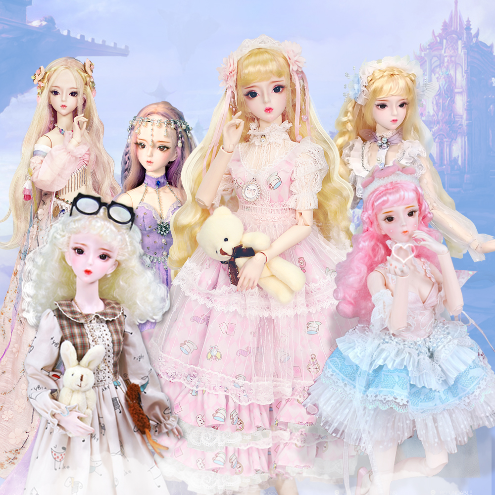 Dream Fairy Toy 1/3 Bjd Doll 62cm Joint Body White Skin With Clothes Shoes, AI YoSD MSD SD Kit Toy Baby Gift DC Lati