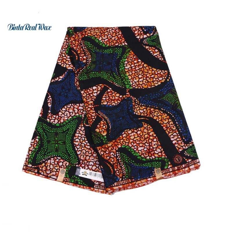 Bonne qualité véritable tissus néerlandais africains véritable cire hollandaise vraie cire vêtements africains coton 6 Yards tissu PL487