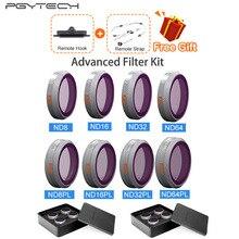 PGYTECH Kit de filtros para Dron, accesorios para Dron con Zoom ND8/16/32/64 PL, DJI Mavic 2