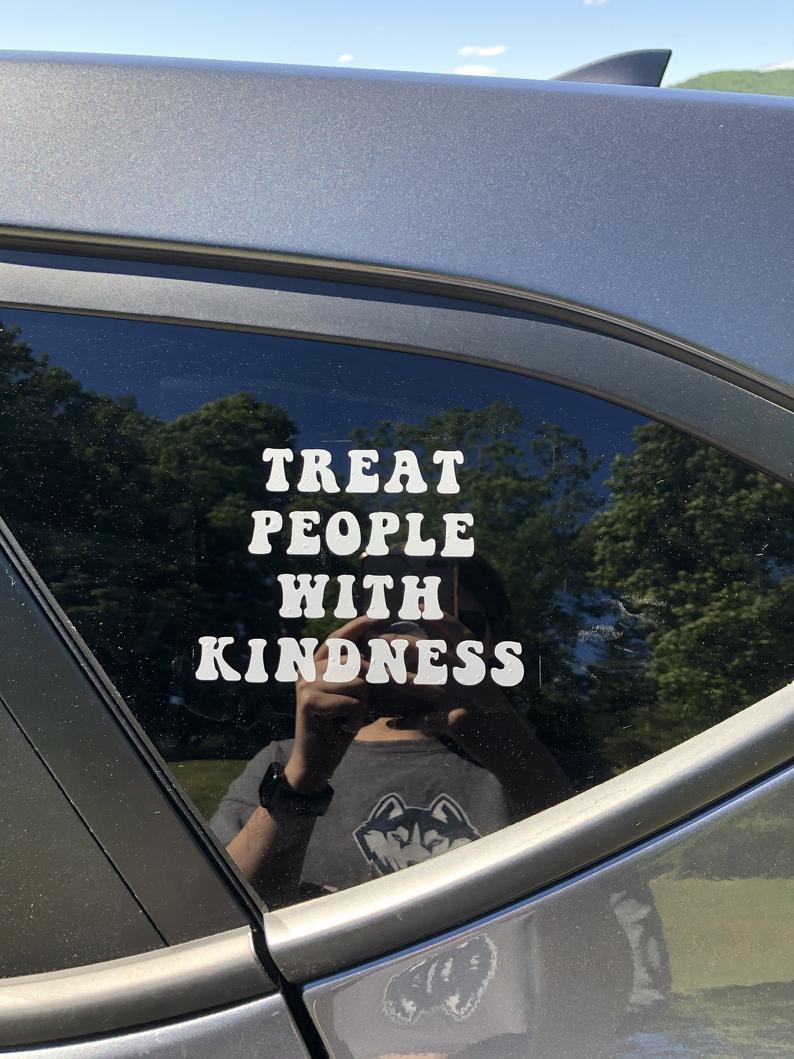 Черные/серебряные СТИЛИ Гарри, вдохновили относиться к людям с добротой, автомобильная наклейка, автомобиль трафарет Водонепроницаемая на...