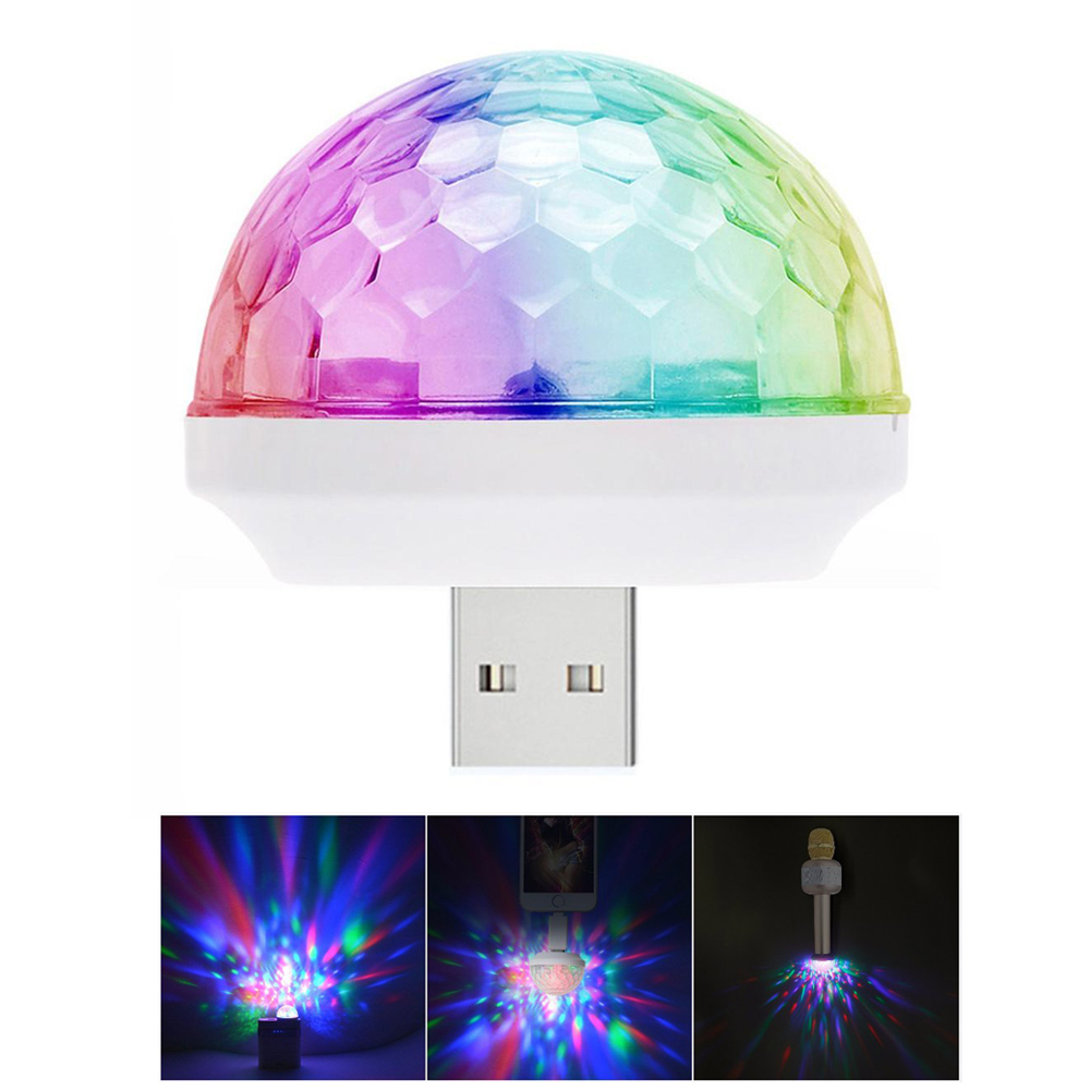 Light  Stage Effect USB  5V Disco Ball  DJ Party Holiday Lighting Christmas Projector +Micro Type C Android I Phone Connecter