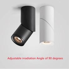 Alta calidad montado na superficie giratoria led cob regulável downlights ac85-265V 10w 15 20 led lámpara de punto para tec