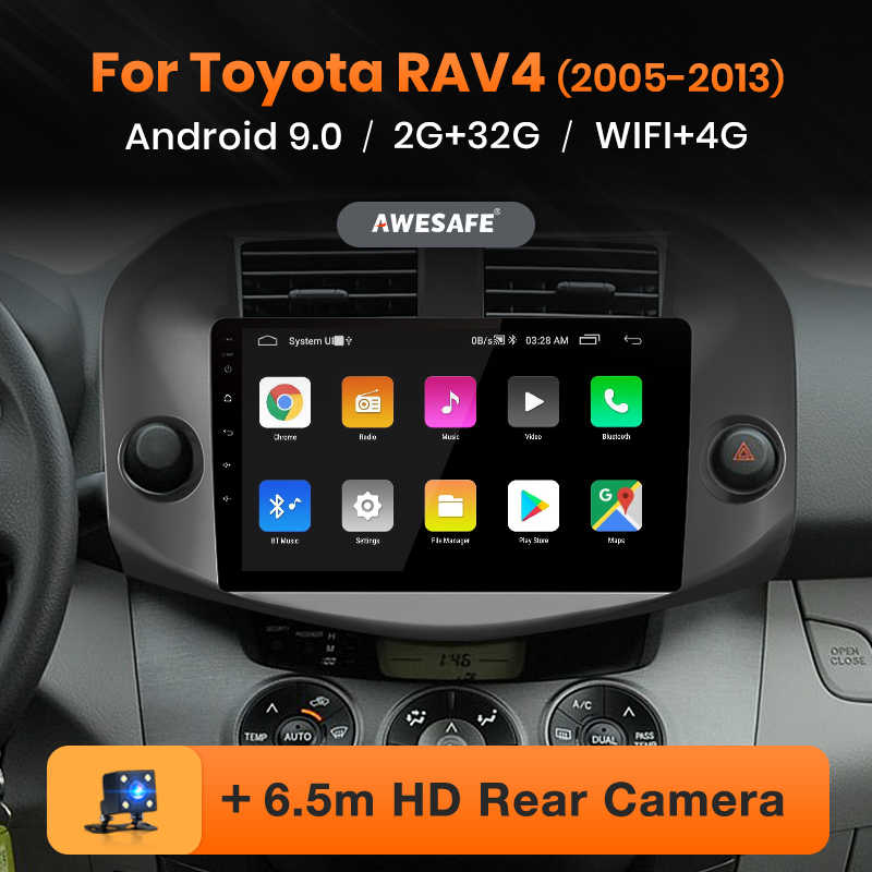 AWESAFE para Toyota RAV4 RAV 4 2005-2013 auto Radio Multimedia reproductor de video GPS No 2din 2 din Android 9,0 2GB + 32GB